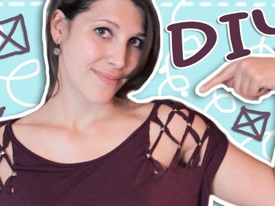 DIY ✂ T-Shirt-Schulter mit Nieten | DoItLisa