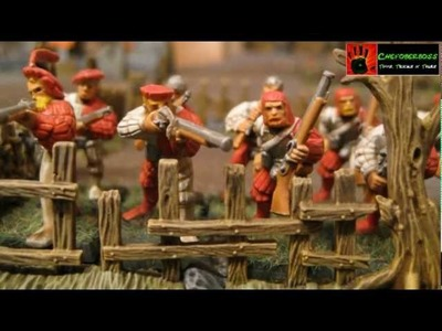 Warhammer Tutorial Mauern und Zäune - walls and fences