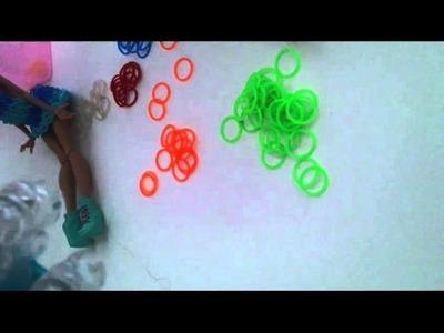 Rainbow Loom Kleid für Puppen #2