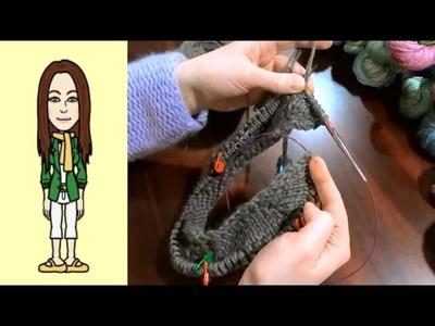 RVO - Raglan von oben Pullover stricken mit Rund-Ausschnitt für alle Größen! (Teil 3 von 8)