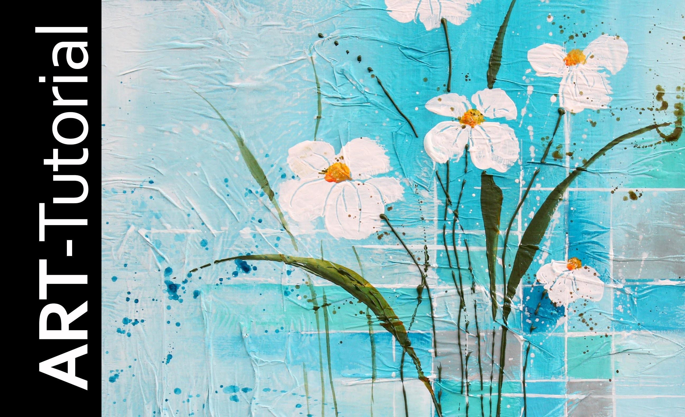 ZAcheR-finet Tutorial - Acrylmalen Workshop - Acrylic painting Malen mit Isabelle 13
