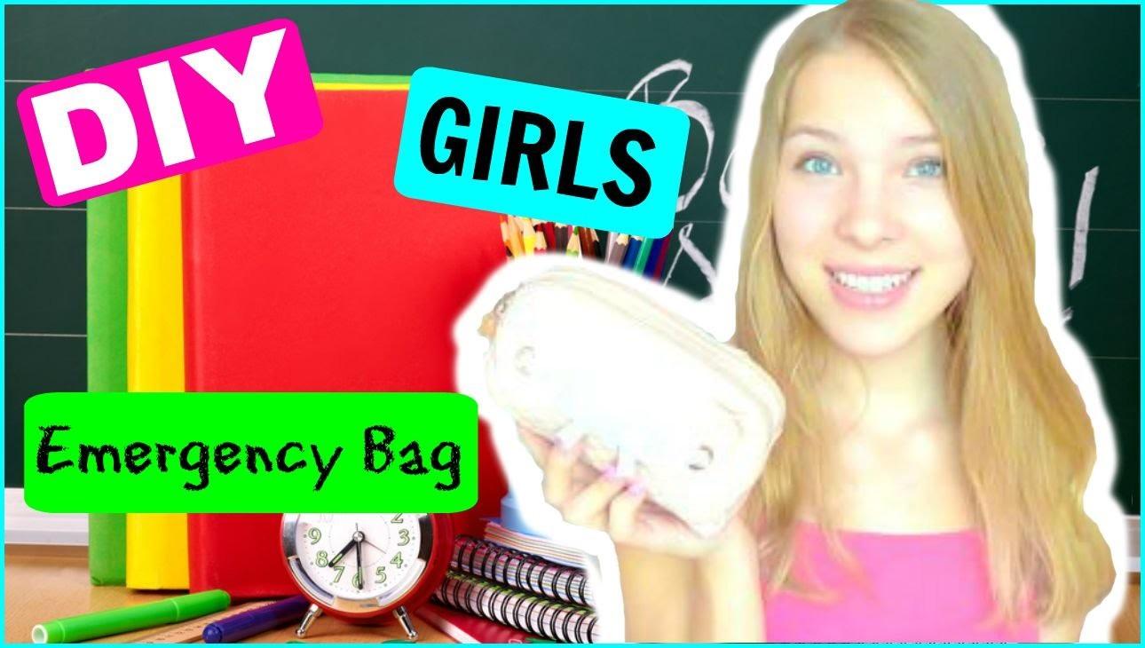 DIY GIRLS EMERGENCYBAG! - #Maggtoschool