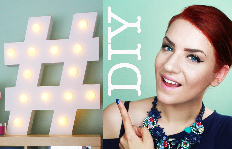#DIY# Hashtag Lampe selbst gemacht! rebeccafloeter