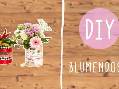 DIY mit Nina Moghaddam: Blumenvase aus Konservendose mit Mustache ♡ ♡ ♡