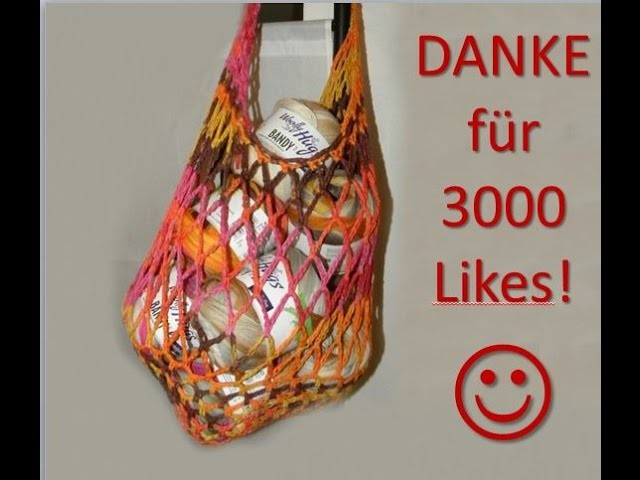 Häkeln - Tasche Beutel BARI - Woolly Hugs BANDY 05 - Veronika Hug