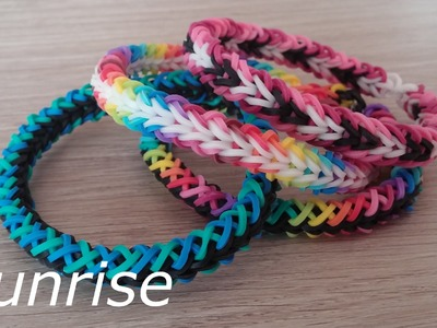 NEU Rainbow Loom Sunrise Armband (Original Design)
