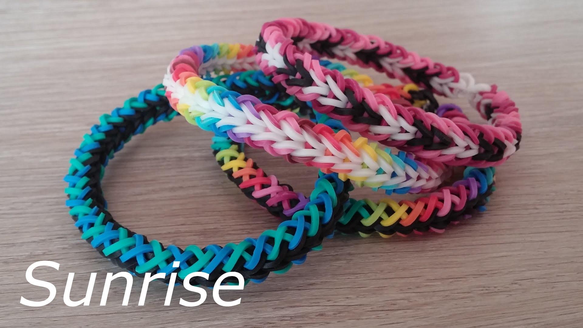 NEU Rainbow Loom Sunrise Armband (Original Design)