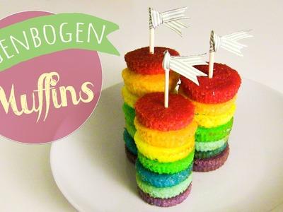 Party Regenbogen Muffins