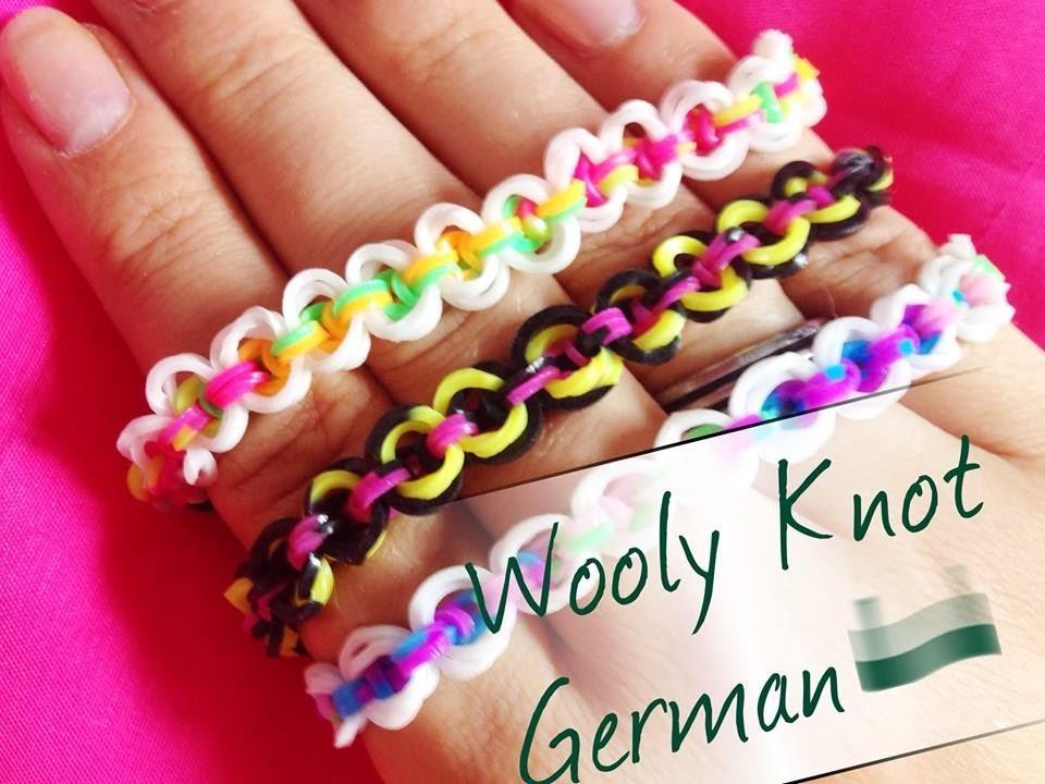 Rainbow Loom Wooly Knot   German Tutorial