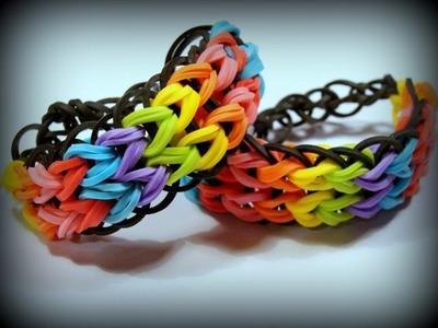 Rainbow Loom Zweifach-Armband, Loom Bands Armband (deutsche Anleitung)