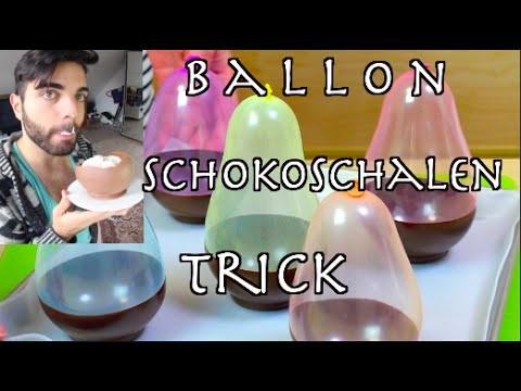 Schokoschalen Mit BALLONS Machen I How To Make Ballon Chocolate Bowls
