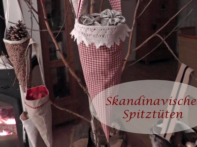 DIY - Spitztüten nähen. schwedische Weihnachtsdeko