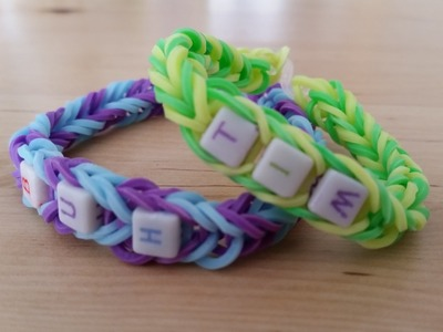 Rainbow Loom Armband mit Namen (Anleitung DE)