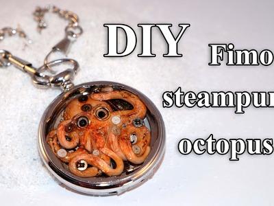 FIMO Steampunk Tintenfisch: Polymer Resin Octopus - Tutorial [HD.DE] (EN-Sub)