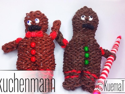 Rainbow Loom 3D Lebkuchenmann. Gingerbread Man