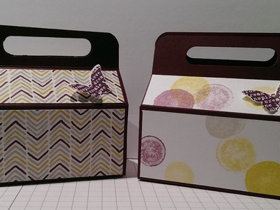 Anleitung: Kleine Snack-Box. mit stampin' up!