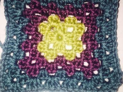 Decke, Crochet Along 2016 -Schritt 2 großes Quadrat, Ihr 40. Quadrat ...