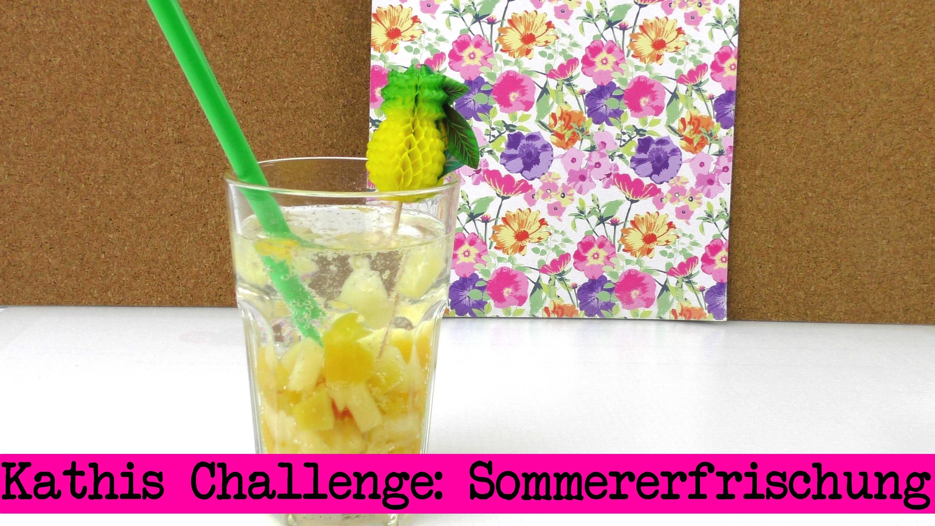 DIY Inspiration Challenge #12 Sommererfrischung |  Kathis Challenge | Do It Yourself Tutorial