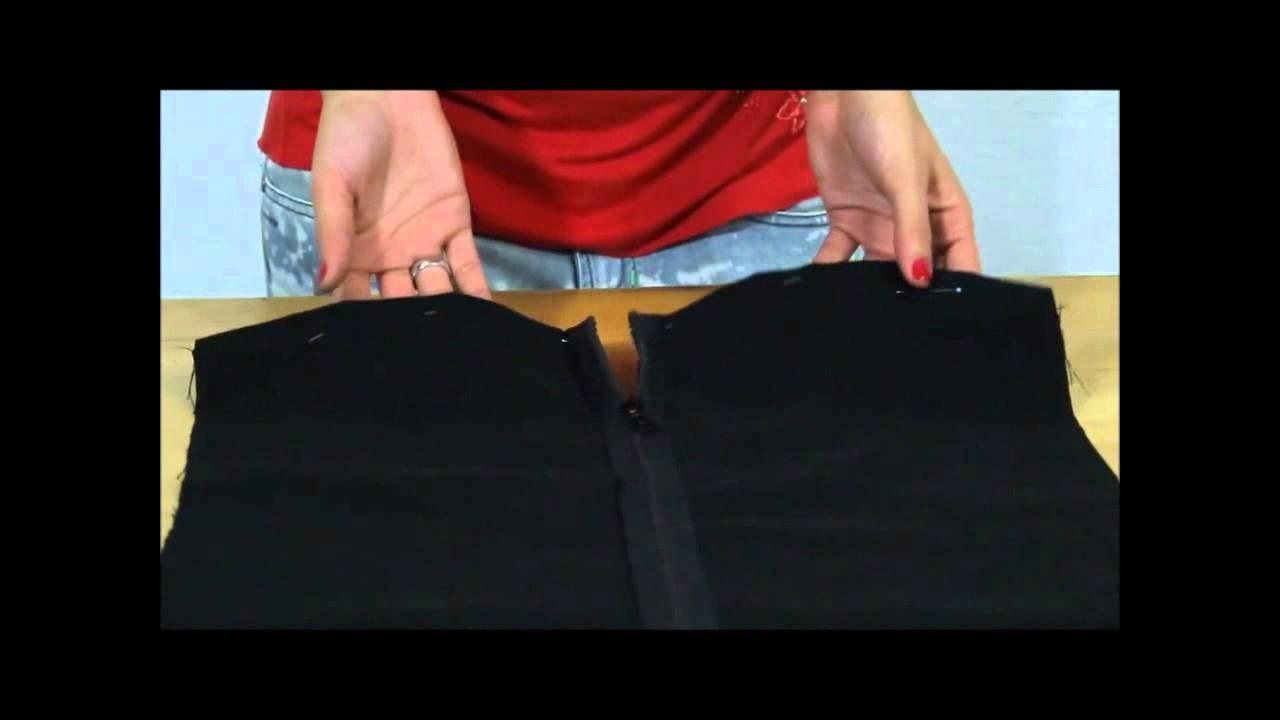 Minikleid mit Reißverschluss