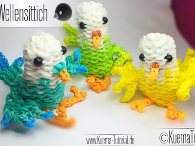 Rainbow Loom Vogel Wellensittich - Bird ( ENG SUB)