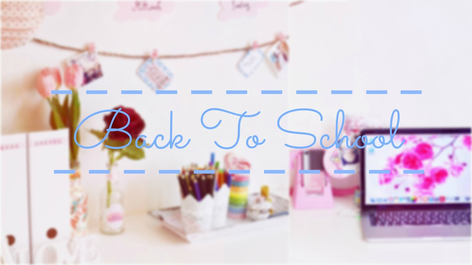 Schreibtisch organisieren, gestalten und dekorieren | Back To School, DIY