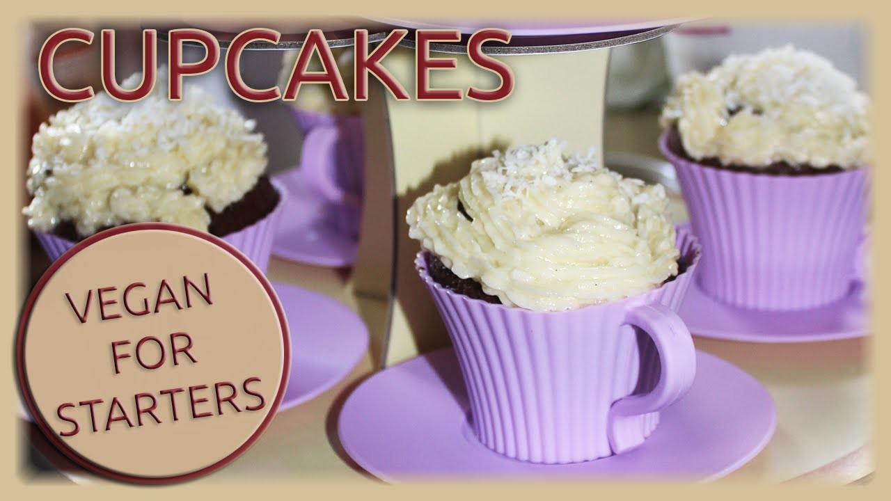 VeganForStarters - vegan backen: Cupcakes mit Kokosfrosting
