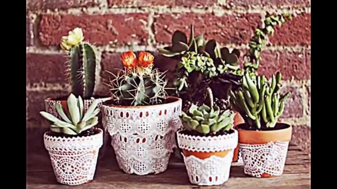 Blumentöpfe dekorieren -- Bastelideen mit Tafelfarbe und Decoupage