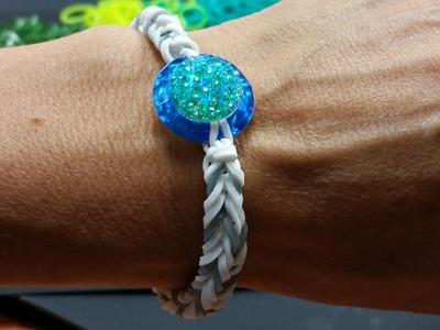 Ideen mit Herz - Loom Bänder - Armband Idee Nr. 4 (Mit Ring-Steinen und Glitzer-Nuggets)