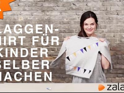 SHIRT SELBER GESTALTEN: COOLES FLAGGENSHIRT FÜR KIDS | DIY MIT ZALANDO
