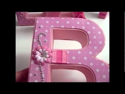3D Buchstaben aus Karton