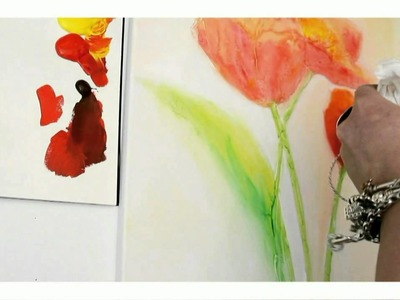 Acrylmalerei Workshop: Blüten und Strukturen, Painting lessons with acrylic colors and texture