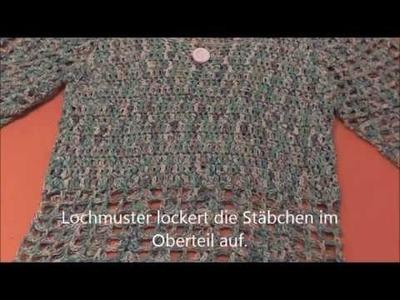 Leichter Pullover für den Sommer gehäkelt