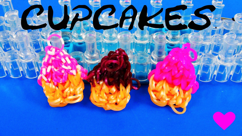 Loom Bands Cupcakes deutsch rainbow loom Anhänger selber machen Anleitung Tutorial | deutsch