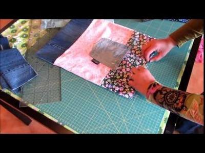 Stabile und originelle Einkausbeutel. Stoffbeutel aus Stoffresten und Jeans nähen