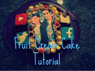 Youtuber Fruit Cream Cake | Youtuber Früchte-Torte | HerrTutorial.SamiSlimani-Cake | Tutorial