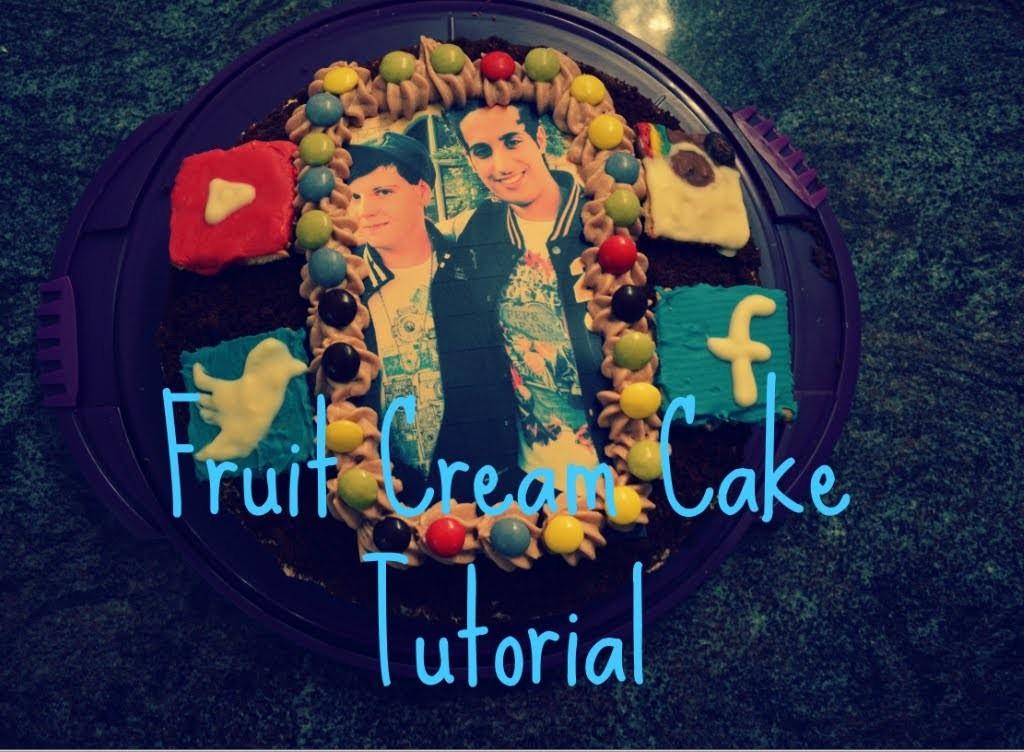 Youtuber Fruit Cream Cake   Youtuber Früchte-Torte   HerrTutorial.SamiSlimani-Cake   Tutorial