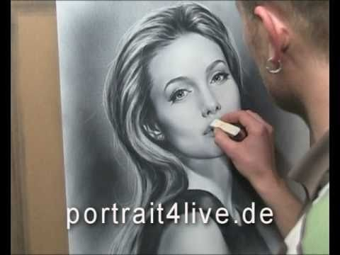 Angelina Jolie - portrait painting. drawing by Sergius Pabst