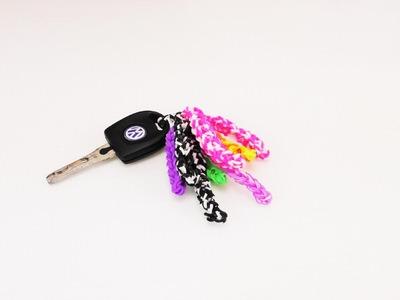 Loom Schlüsselanhänger Troddel | Nur mit Hacken | Einfach & schnell gemacht | Keychain