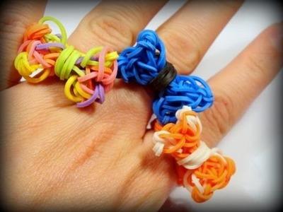Wie macht macht man einen Loom Bands Ring? Ring mit Schleife, Rainbow Loom (deutsche Anleitung)