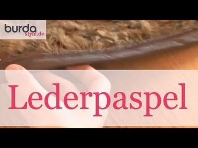 Burda style – Lederpaspel nähen