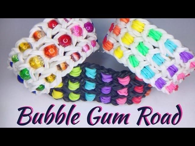 Rainbow Loom Bubble Gum Road Armband. bracelet