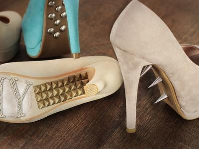 DIY Nieten-Schuhe - super easy und toller Hingucker - Pumps
