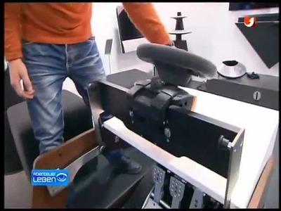 "ConverTTable - ""Welt des Wissens"" TV Bericht - Recaro Fahrsimulator Design Möbel Furniture"
