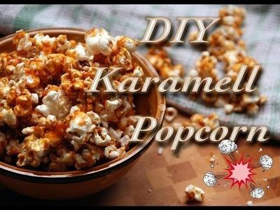 DIY karamell Popcorn - snacks aus der Küche