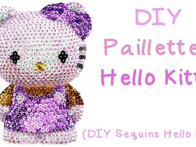 [DIY] Pailletten Hello Kitty & Giveaway. Sequins Hello Kitty  | Anielas Fimo [geschlossen]
