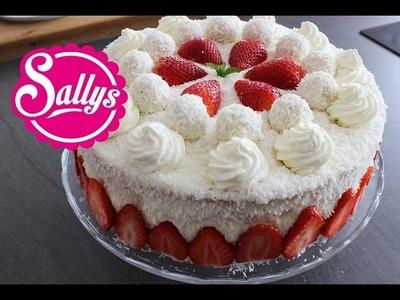 Muttertagstorte. Erdbeer-Kokos-Torte. Mothers Day. Torte zum Muttertag