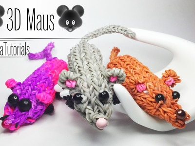 Rainbow Loom 3D Maus - 3D Mouse  ( Englisch Sub)