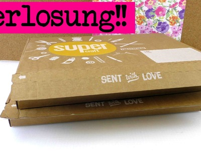 Supercraft Kit Unboxing und Verlosung!!. Supercraft Box zu gewinnen. DIY Inspiration
