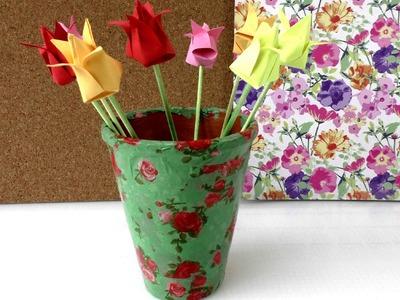 Blumentopf gestalten - Blumentopf als Geschenk, Deko, für den Garten im Sommer