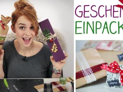 DIY 6 Einpack Ideen - Geschenke verpacken, Weihnachten - alive4fashion